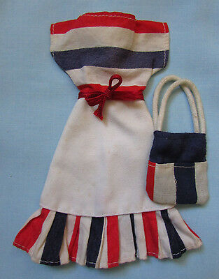 Fab Rare Vintage 1978 Sindy Doll Clothes *mix N Match* Dress And Matching Bag
