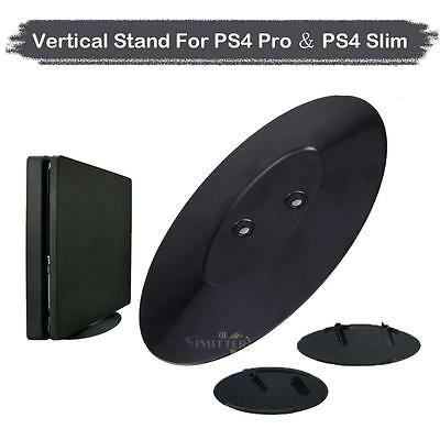 2in1 Vertical Stand Mount Cradle Holder for Sony PS4 Pro/ PS4 Slim Game Console