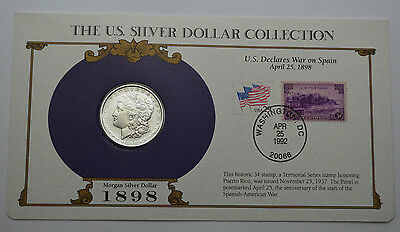 1898-P Morgan Dollar  & STAMPS ,THE US SILVER DOLLAR COLLECTION!