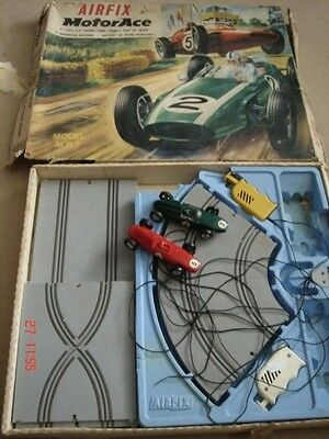 Vintage Boxed Airfix Mrrc Motorace Model Mr7 Race Track 2 Cars 1969 Scalextric