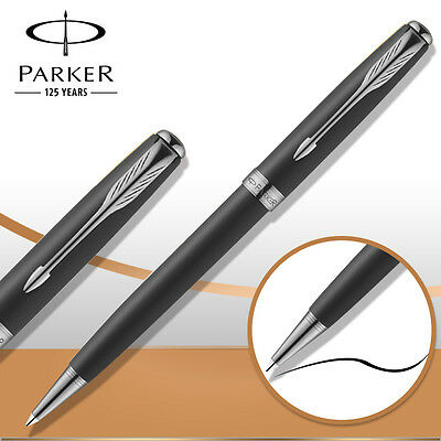 Parker Sonnet Ballpoint Pen Silver Clip Matte Ball point Pen Refill Business H9