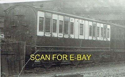 Railway Photo LNWR 6-wheel 3rd Class Carriage No 1919 at Chester 1921