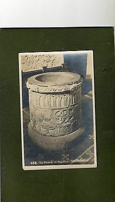 "Vintage Postcard of ""The Font, St. Martins, Canterbury""."