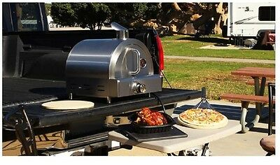 Outdoor Pizza Oven Stone Maker Propane Portable Gas Stainless Steel Countertop