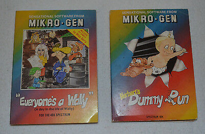 2 x VINTAGE Sinclair ZX Spectrum Games - Everyones A Wally & Dummy Run