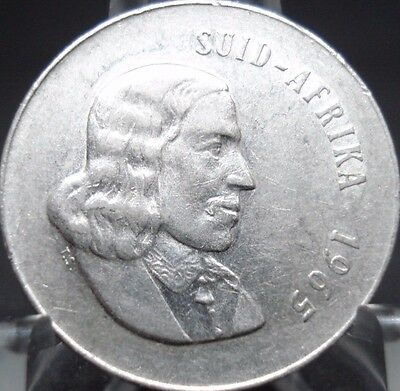 1965 South Africa  Uncirculated 20 Cent Coin