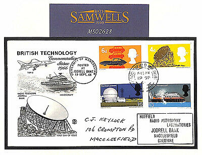 MS2628 1966 GB FDC Technology Posted *JODRELL BANK* Relevant 4d RADIO ASTRONOMY