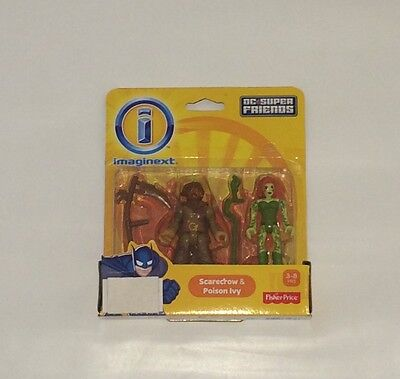NIB Fisher-price Imaginext Scarecrow and Poison Ivy Dc Super friends