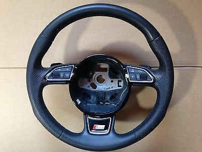 AUDI Q3 A3 8V S Line PADDLE SHIFT LEATHER STEERING WHEEL, WORLDWIDE POSTAGE!!!