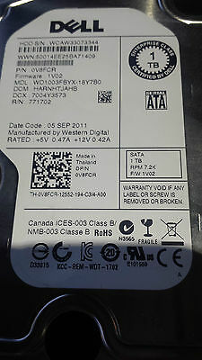 "Disque dur 1 To Western Digital 3.5"" 7200rpm WD 1002FBYS-DELL 050XV4 - NAS-Raid"