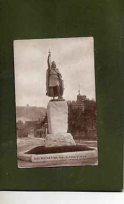 "Vintage Postcard of "" King Alfred Statue, Winchester"""