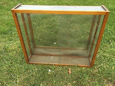 """Antique Ca. 1910s 20s The Waddell Co. 35""""x8""""x30.5"""" Tall Vtg Glass Display Case"""