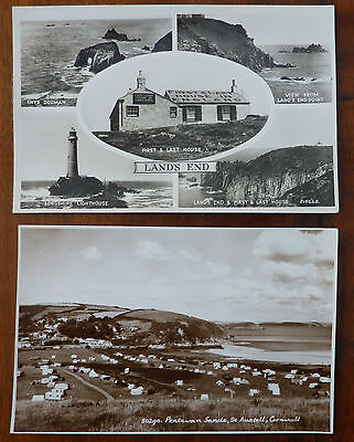 2 Vintage Real Photographic Postcards Cornwall