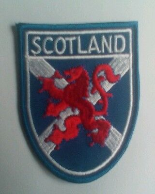 St. Andrews cross / Saltire Lion Rampant Scotland Embroidered sew/iron on Patch