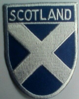 St. Andrews cross Scotland Embroidered sew on Patch Badge shield
