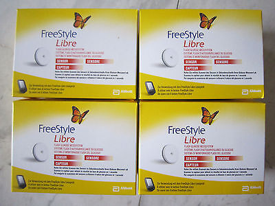 Abbott Freestyle Libre 4 Sensors **free Fast Courier Delivery Worldwide**