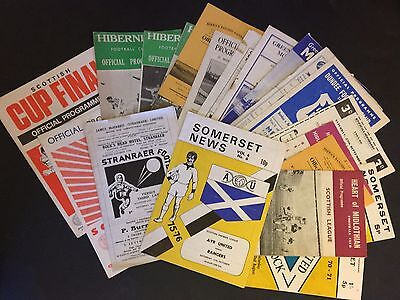 A Collection Of 21 Scottish Football Programmes 1959-1976 (Some Rare) All Listed