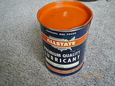 Vintage 1950,s Allstate Wheel Bearing Grease Tin Sears Roebuck Rare Awesome Tin