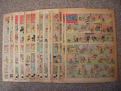 Mickey Mouse+Silly Symphony, 16 sunday Tabs from 1941-1945