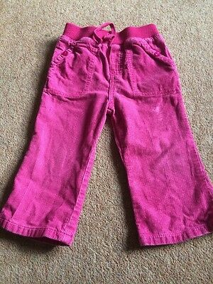 Girls Corduroy Play Trousers 12-18 Months