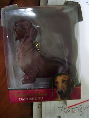 """New Dachshund Dog Christmas Holiday Ornament Collectors Series 3"""" East West"""