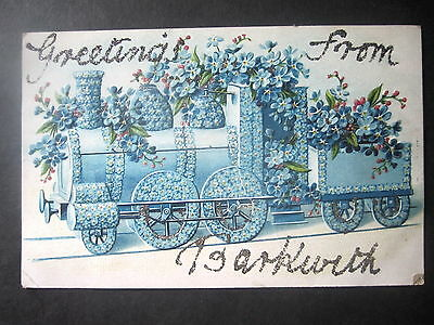 Greetings From East Barkwith. Floral Train.
