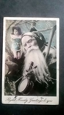 Christmas Postcard. Santa Claus With Toys. Posted 1906.