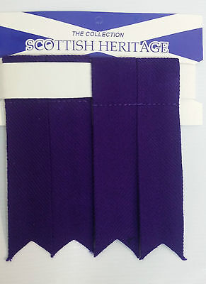 Plain Purple Sock Flashes 4 Sporrans & Kilts