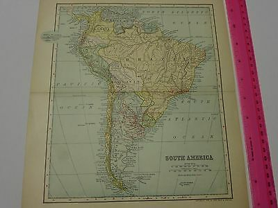 1903 Map of South America- FREE SHIPPING
