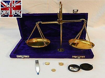 Portable Precision Small Weight Brass Balance Scales / Spices Medicine Jewellery