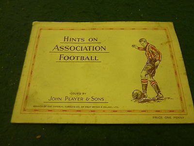 1934 Hints on Association Football Complete Players Cigarette 50 Card Album