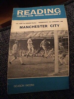 Reading v Manchester City 1967/68 FA Cup Replay Programme