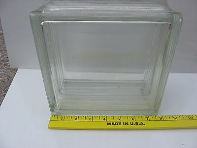 "Vintage Architectural Glass Blocks Vue 7 5/8"" x 7 5/8"" x 4"