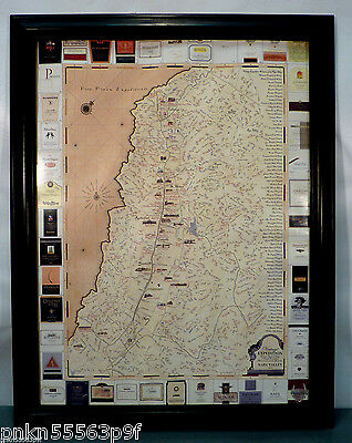 2008 Framed VINTAGE EXPEDITION Napa Valley VINEYARDS MAP 44 Winery Locations