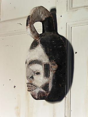 19th Century Carved Wooden African Funeral Mask