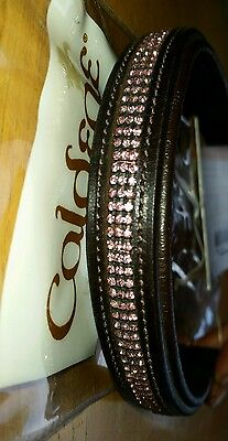 Caldene 3 Row Pink Dimond Browband Brown Full size New