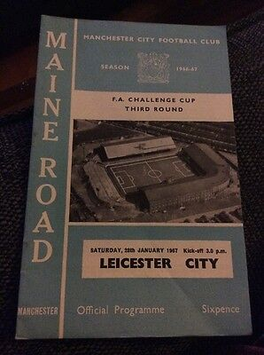 Manchester City v Leicester City 1966/67 FA Cup Programme