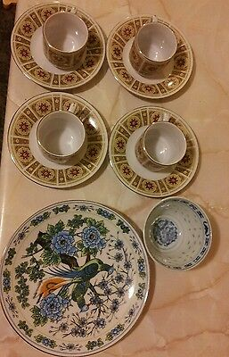 assorted oriental china cups and plates