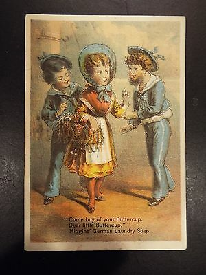 Chas. S. Higgins German Laundry Soap Victorian Trade Card