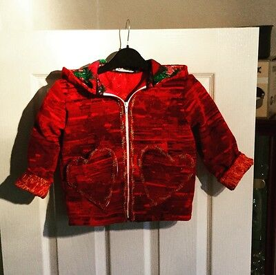 Little Girls Home Made Red Coat