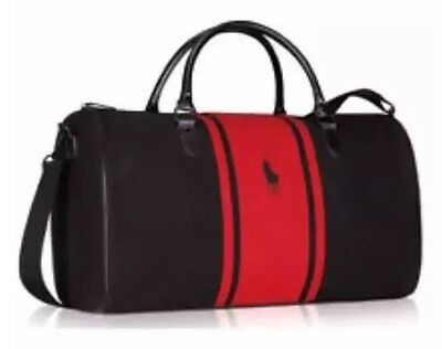 Ralph Lauren Polo Black / Red / Weekend / Travel / Gym / Holdall / Duffle Bag