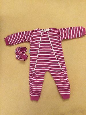 Jojo Maman Bebe Sleep Snuggler Sleeping Bag Material Sleepsuit 2-3 Years Pink