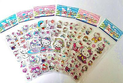 10 x HELLO KITTY PUFFY Sticker strips  Party Bag Fillers Birthday party favours