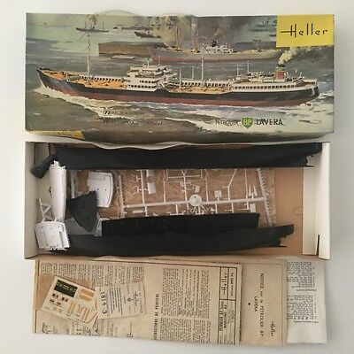 Rare Collector Vintage Heller Petrolier Bp Lavera Plastic Model Kit 1/500