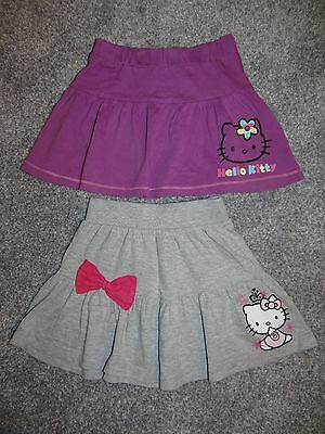 Girls 2 x Hello Kitty mini skirt/ summer skirts BOW age 3-4 years 104-110cm