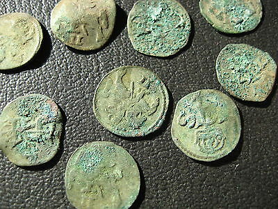 Medieval hammered  silver coin uncleaned  1pcs 15mm