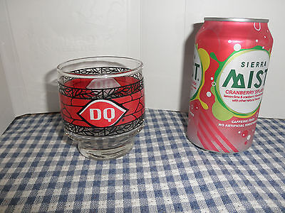1970's VINTAGE DAIRY QUEEN SUNDAE GLASS TUMBLER CUP