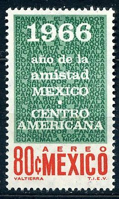 Mexico 1966 central american friendship stamp mint
