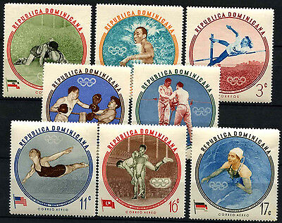 Dominican Republic 1960 SG#813-821 Olympic Games MNH Set #D39486
