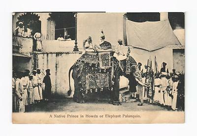 c1905 PPC A Native Prince in Howda or Elephant Palanquin